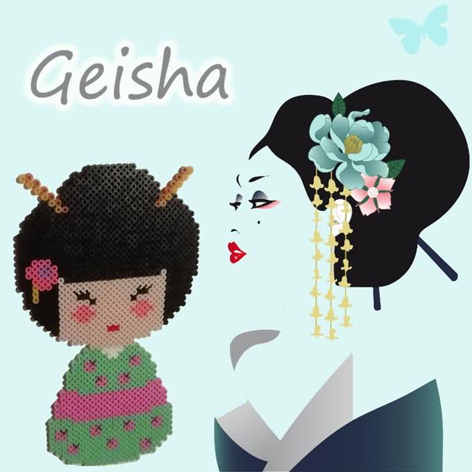 Geisha con le Hama beads