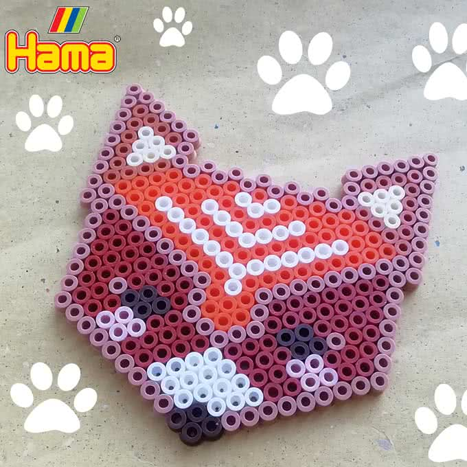 Volpe con le Hama Beads