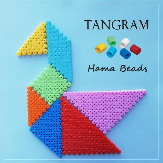 Tangram con le Hama beads