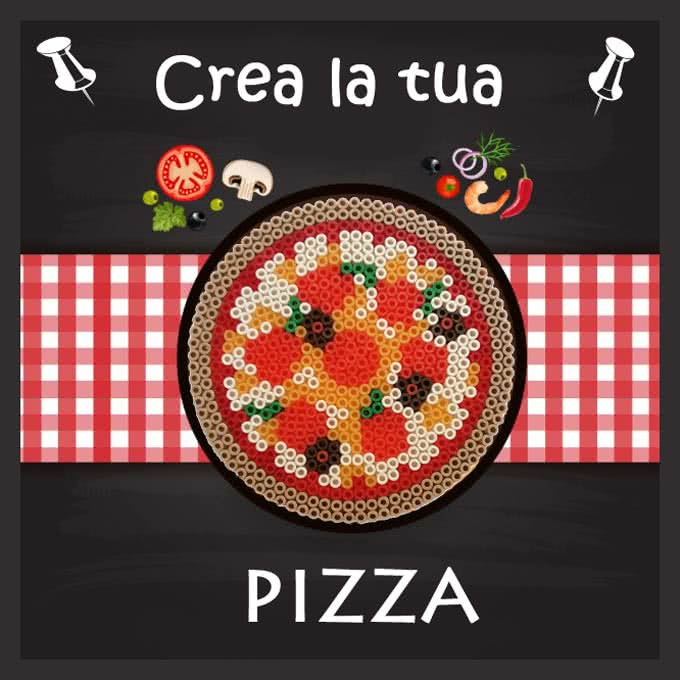 Pizza con le pyssla
