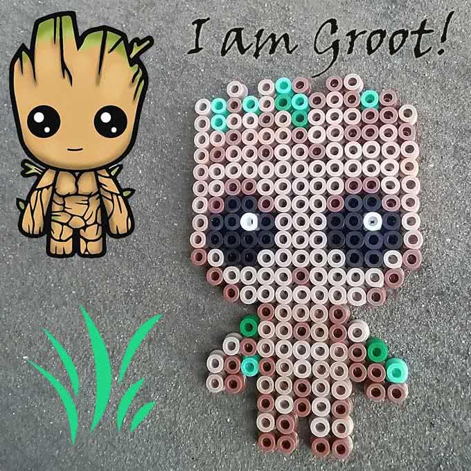 Baby Groot Pyssla