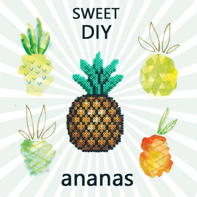 Ananas con hama beads