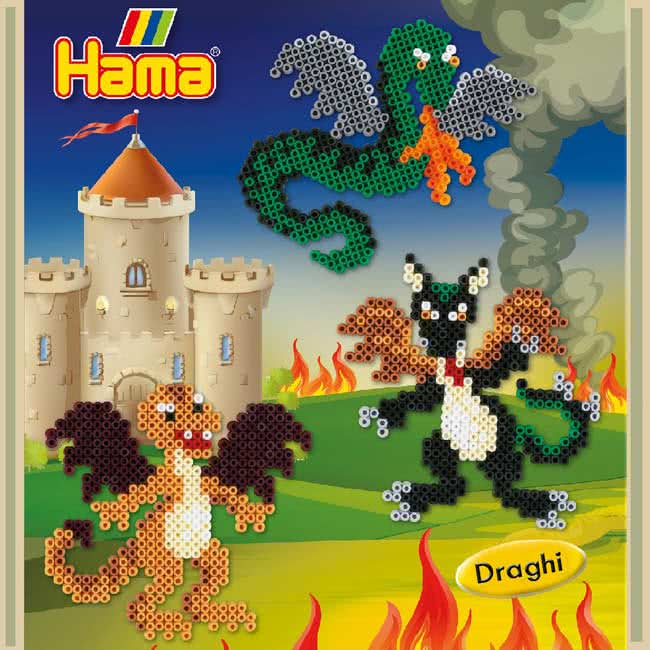 Draghi con le Hama beads