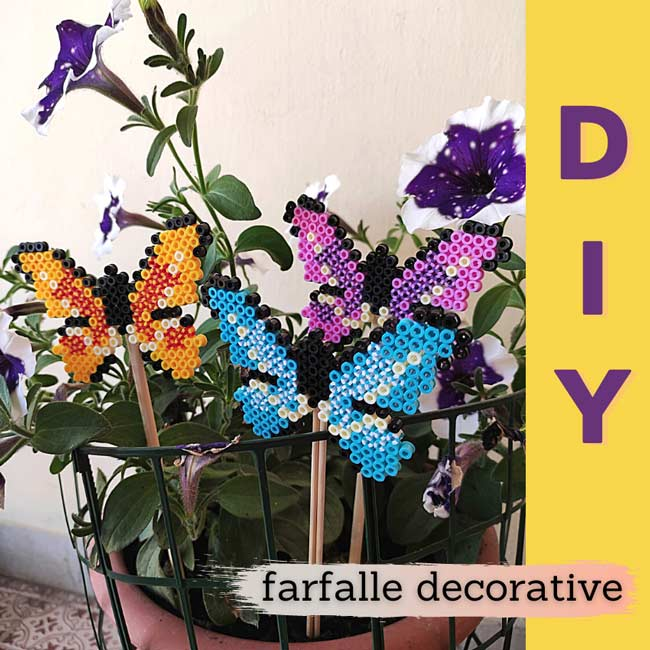 Decorazione pianta farfalle