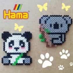 Panda e Koala con Pyssla