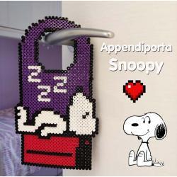 Appendiporta Snoopy con le perline Hama