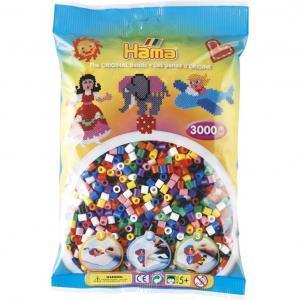 Hama Beads Midi 3000 pezzi in 10 colori misti