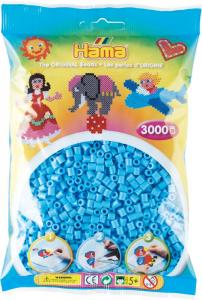 Hama Beads Midi 3000 pezzi - Azzurro pastello n.46