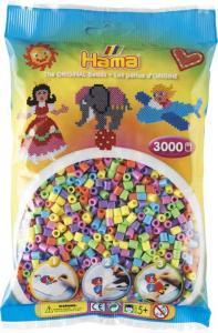 Hama Beads Midi 3000 pezzi - misto pastello