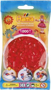 Hama Beads Midi 1000 pezzi - Rosso traslucido n.13