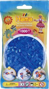 Hama Beads Midi 1000 pezzi - Blu traslucido n.15