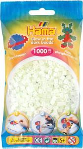Hama Beads Midi 1000 pezzi - verde brilla nel buio n.55