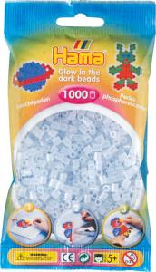 Hama Beads Midi 1000 pezzi - azzurro brilla nel buio n.57