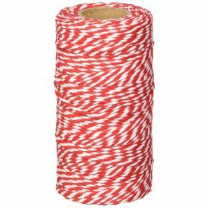Cordoncino bicolore rosso e bianco natalizio