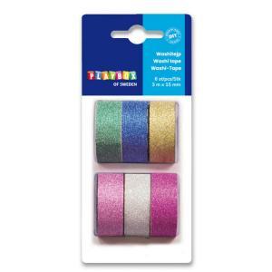 washi tape con glitter