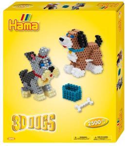 Confezione regalo hama beads - Cagnolini 3D