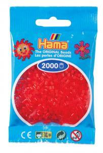 Hama beads MINI 2000 pezzi Rosso traslucido n.13