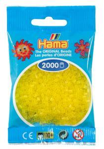 Hama beads MINI 2000 pezzi Giallo traslucido n.14