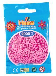 Hama beads MINI 2000 pezzi Rosa pastello n.48