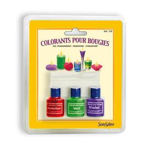 Ricarica 3 coloranti per candele