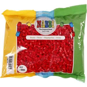 Nabbi beads 6000 p. - Rosso scuro n.57