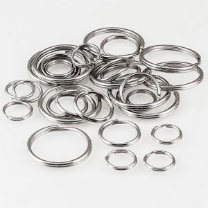 30 anelli per portachiavi - diverse misure