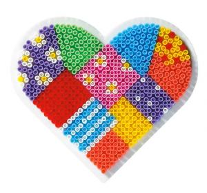 Mini Hama beads - Base piccola cuore