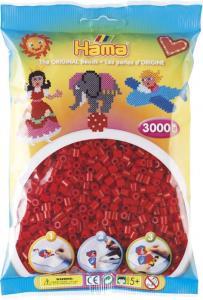 Hama Beads Midi 3000 pezzi - Rosso scuro n.22