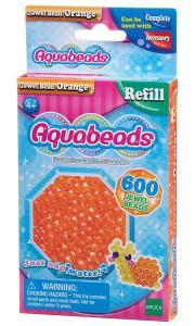 Ricarica Aquabeads - 600 Perline sfaccettate Arancione