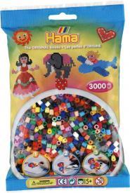 Hama beads 3000 perline in 50 colori brillanti
