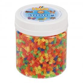 barattolo pyssla colori neon hama beads
