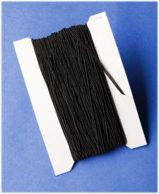 Cordoncino elasticizzato nero - 5 m