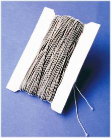 Cordoncino elasticizzato argento - 5 m