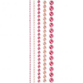 Mezze perle adesive pink