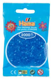 Hama beads MINI 2000 pezzi - Blu traslucido n.15