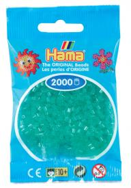 Hama beads MINI 2000 pezzi - Verde traslucido n.16