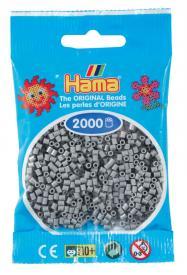 Hama beads MINI 2000 pezzi Grigio n.17
