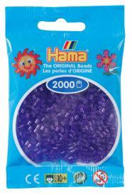 Hama beads MINI 2000 pezzi Nero traslucido n.23