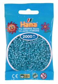Hama beads MINI 2000 pezzi Turchese scuro n.31