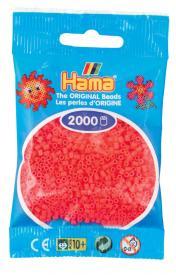 Hama beads MINI 2000 pezzi Rosso ciliegia n.33