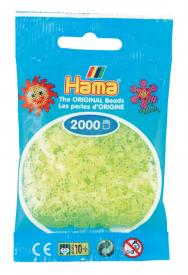 Hama beads MINI 2000 pezzi Giallo neon n.34