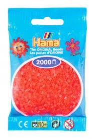 Hama beads MINI 2000 pezzi Rosso neon n.35
