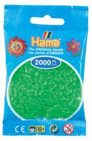 Hama beads MINI 2000 pezzi fluorescent green n.42