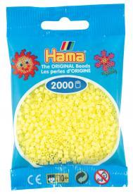 Hama beads MINI 2000 pezzi - Giallo pastello n.43