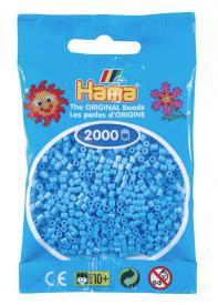 Hama beads MINI 2000 pezzi - Azzurro pastello n.46