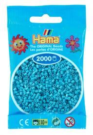 Hama beads MINI 2000 pezzi Turchese n.49