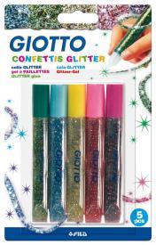 Giotto Colla Glitter Confettis 5 pz