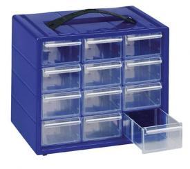 Cassettiera per perline con 12 cassetti