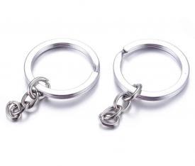 2 anelli portachiave con catena