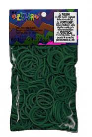 Elastici originali Rainbow Loom - Verde scuro (Dark green)